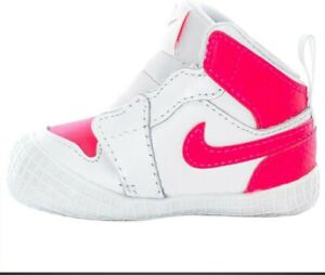 Nike Air Jordan 1 Retro Crib Bootie 'White/Racer Pink' | AT3745-116 | 2C