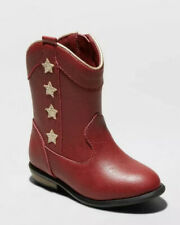 "NEW Toddler Girls' ""Anika"" Western Boots from Cat & Jack - Red"