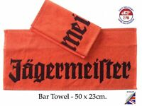 Jägermeister Bar Runner, Terry Bar Towel,100%Cotton 50x23cm,