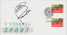 Daley THOMPSON Signed Autograph FDC First Day Cover COA AFTAL Decathlete Olympic