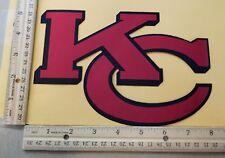 "HUGE KANSAS CITY CHIEFS IRON-ON PATCH - 5.5"" x 8.5"""