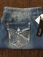 Apt 9 Boot Cut Jeans Womens Jeans W24 Rhinestone Pocket Flap Pockets Light