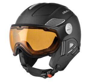 Slokker Skihelm Raider Visor Titan 52-54 cm Helm Snowboard mit Visier GQ3