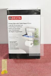 Delta- Toilet Paper Holder with Privacy Storage in SpotShield Brushed Nickel