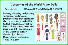 Djeco :- Paper Dolls Custumes of the world