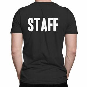 Mens STAFF T-Shirt Workwear For Doorman Events Uniform Work CLEARANCE Unisex