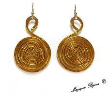 Orecchini SPIRALE Etrusco Celtico Etnico Tribale Zen Spirale Oro Argento Bronzo