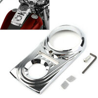 Black/Chrome Dash Panel Insert Cover For Harley Dyna Heritage Softail Fat Boy