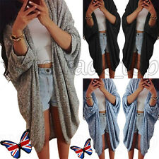 Fashion Women Ladies Waterfall Cardigan Coat Jumper 3/4 Sleeve Knit Outwear New