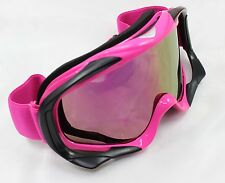 Pink Frame Tinted lens Motocross Off-Road Dirt ATV Quad Gokart Bike GOGGLES