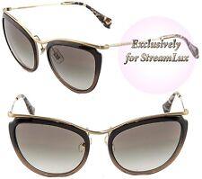 4c584b95d69 MIU MIU Cat Eye Sunglasses SMU 51P Black Brown Gold Gradient MU51PS DHK-0A7