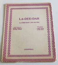 Partition sheet music FRANKIE JORDAN : La-Dee-Dah * 60's