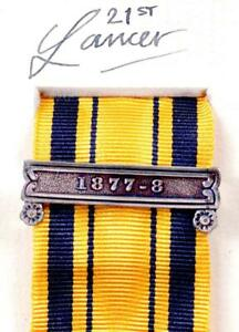 SOUTH AFRICA SERVICE MEDAL RIBBON CLASP ANGLO ZULU WARS 1877-8 MILITARY AWARDS