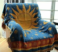 The Sun God Double Sided Cotton tapestry sofa blanket throw rugs Wall Hanging