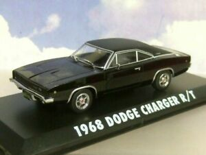 GREENLIGHT DIECAST 1/43 BULLITT 1968 DODGE CHARGER R/T BLACK STEVE MCQUEEN 86432