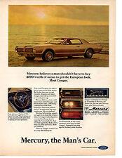 1967 MERCURY COUGAR  ~  NICE ORIGINAL PRINT AD