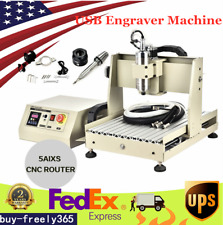 Usa 800w 5 Axis Cnc 3040 Router Engraver Engraving Milling Cutter Machine