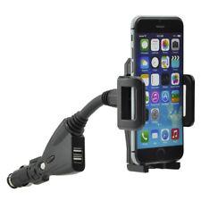 Auto KFZ Handyhalterung Handyhalter USB Lader Schwanenhals F Apple iPhone 6 plus
