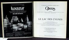 Programme Opéra Nuits Louvre 73 Lac des cygnes Noureev Pontois Makarova Thesmar