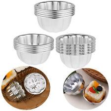 US 5Pcs_Aluminum Alloy Egg Tart Mold Candy Cake Muffin Baking Cups Tartlets Pans