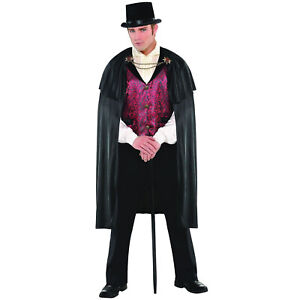 Mens Blood Count Vampire Dracula Fancy Dress Costume Gothic Halloween Outfit