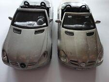 2 x Mercedes-Benz SLK + SLK-350 Cabrio Modellauto 1:37