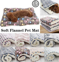 Soft Flannel Pet Mat Thicken Warm Cat Dog Puppy Bed Blanket Sleeping Cushion FA*