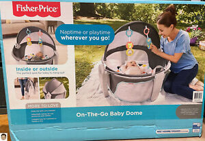 Fisher Price Windmill On-the-Go Baby Dome, Baby Tummy Time Portable Playard NEW