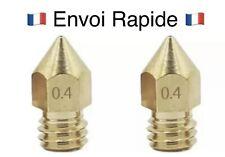 🇫🇷2X buse laiton 0.4mm Creality Ender3 Pro imprimante 3d printer nozzle 🥇