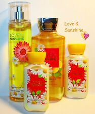 Love & Sunshine Lotions, Mist, Shower by Bbw Gel Lot of 4 Save $