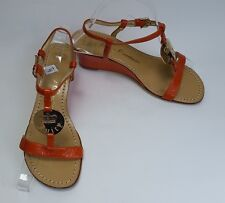 Juicy Couture Womens Shoes Sandals Orange Italy Size 6 M