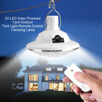 New 22LED Outdoor/Indoor Solar Lamp Hooking Camp Garden Lighting Remote Control