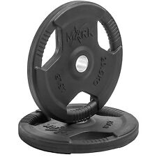 Xmark Fitness Rubber Coated, Tri-grip, Olympic Plates Weight, Pair of 45 lb. New