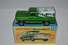 Matchbox  Superfast No 50 Kennel truck perfect mint in box with the four dogs