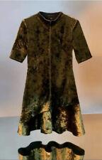 Cue Olive Green Velvet Dress Size 12