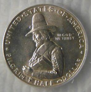 1920 Pilgrim Commemorative Silver Half Dollar ~ ICG MS64, NICE COIN!!!