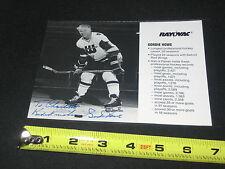 GORDIE HOWE NHL LEGEND HAND SIGNED AUTOGRAPHED VINTAGE HOCKEY PHOTOGRAPH RARE