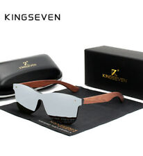 Original KINGSEVEN Sonnenbrille mit Zubehör silber Bambus Holz Polarisiert NEU