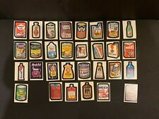 1973 Topps Wacky Packages 1st Series 1 Complete Sticker Card Set 30/30 EX+