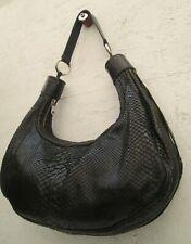**CHLOE** sac à main noir cuir reptile vintage - authentique bag