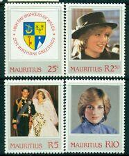 MAURITIUS Sc548-51 SG643-46 MNH 1982 21st Birthday Princess Diana set of 4 SCV$6