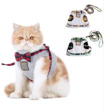 Cat Pet Harness Leash Safety Control Clothes Mesh Jacket Kitten Soft Vest Strap