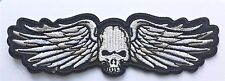 Winged Skull Harley Biker Patch Gothic Rock . iron or sew on. Free P & P