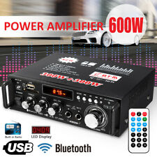 110V DC12V 600W 2CH bluetooth Digital Power Amplifier HIFI Audio MP3 FM Home Car