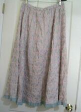 Catalog Classics Pink Gray Ruffle Bottom Maxi Skirt XL