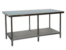 New 30x96 Work Table Nsf Stainless Steel Top 18 Gauge Food Prep Under Shelf 6989