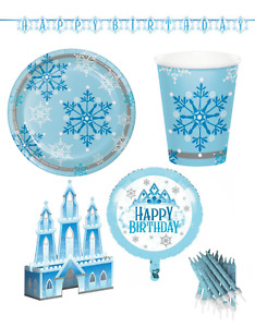 Snowflake Party Tableware Frozen Ice Snow Princess Design Table Decorations