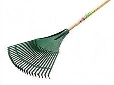 "Bulldog Plastic Lawn & Leaf Rake 1519mm (60"") Strong Ash Shaft - FREE DELIVERY!"