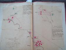 1813 GERMANIA: MAPPA ESERCITO NAPOLEONICO BATTAGLIE DI DRESDA DENNEWITZ KATZBACH