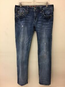 Womens Rock Revival Alivia Easy Straight Jeans 29